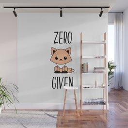Zero Fox Given Wall Mural