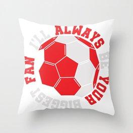 Football Training Club Fan Gift Throw Pillow
