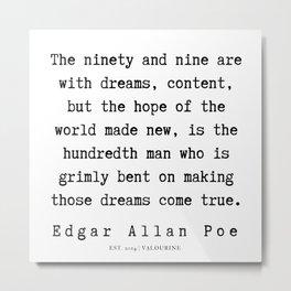 58    | Edgar Allan Poe Quotes | 191202 Metal Print