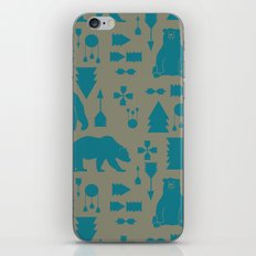 Tribal Bear Blue iPhone & iPod Skin