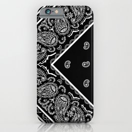 Black Bandana Corner Design iPhone Case