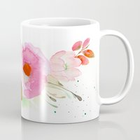 band Mugs featuring Floral Band by Mai Autumn