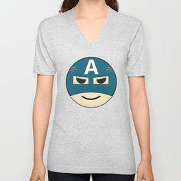 Captian A Emoji Unisex V-Neck