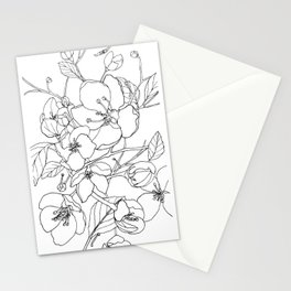 Crabapple Blossoming Stationery Cards