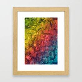 Poly Colours  Framed Art Print