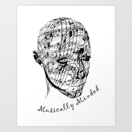 Musically Minded Art Print