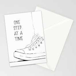 one step at a time Stationery Cards