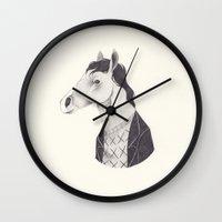 netflix Wall Clocks featuring BoJack  by yohan sacre