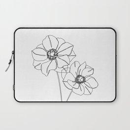Botanical illustration line drawing - Anemones Laptop Sleeve