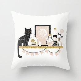 Magical Little Shelf Throw Pillow