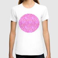 polka dots T-shirts featuring Pink Polka Dots 01 by Aloke Design