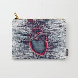 Gamer Heart BLUE CRIMSON / 3D render of mechanical heart Carry-All Pouch