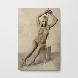 Photograph Bdsm Style Nude Woman Metal Print