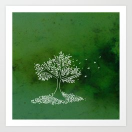 Wind Green  Art Print