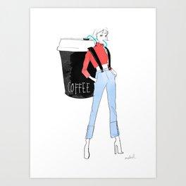 Coffee on the GO Art Print