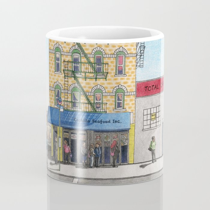 Atlantic Avenue, Brooklyn Colored Pencil Drawing Coffee Mug