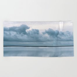 Epic Sky reflection in Iceland - Landscape Photography Beach Towel