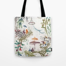 Enchanted Forest Chinoiserie Tote Bag