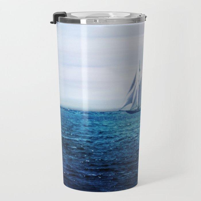 Sailing Ship on the Sea Travel Mug