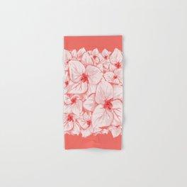 coral flower Hand & Bath Towel