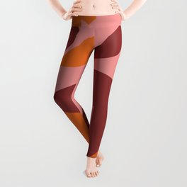 Two little monsters graphic design characters Leggings