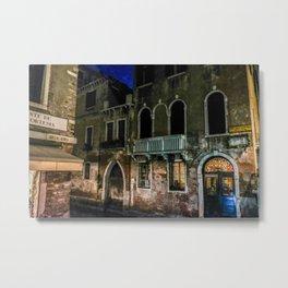 Romantic Venice at Night Metal Print