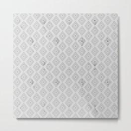 Modern abstract geometrical blush gray diamonds pattern Metal Print