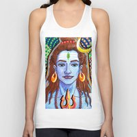 shiva Tank Tops featuring Shiva Pop by Deepak Puri