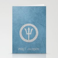 percy jackson Stationery Cards featuring Percy Jackson by Dan Lebrun