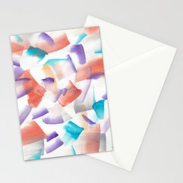 180719 Koh-I-Noor Watercolour Abstract 12| Watercolor Brush Strokes Stationery Cards