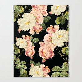 Flora temptation - night Canvas Print