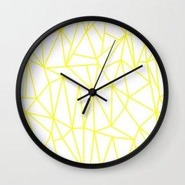 Geometric Cobweb (Yellow & White Pattern) Wall Clock