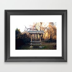 Covered Table in Brick, NJ Framed Art Print