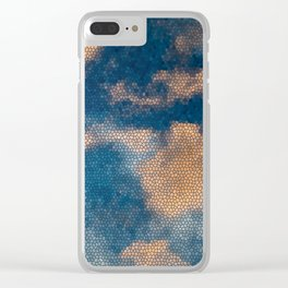 cloud-mosaic Clear iPhone Case