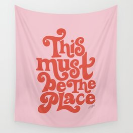 This Must Be The Place (Pink/Red Palette) Wall Tapestry