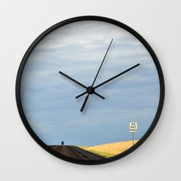 Do Not Pass - South Dakota Open Road Wall Clock