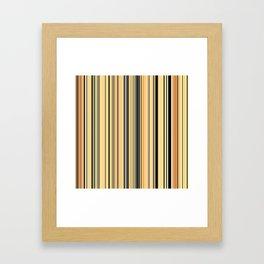High Society Vintage Yellow Black White Stripes 001 - Corbin Henry Framed Art Print