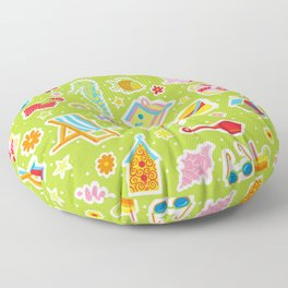 Summer Fun Green Floor Pillow