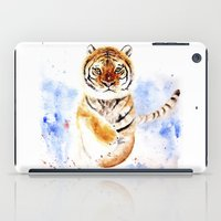 tiger iPad Cases featuring Tiger by Anna Shell