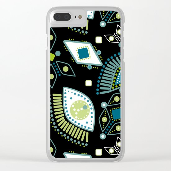 Ethnic pattern . Eyes . Clear iPhone Case