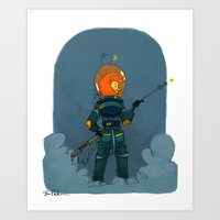 prometheus Art Prints featuring Prometheus by Bree Paulsen
