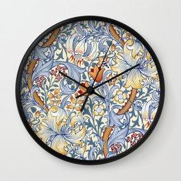 William Morris Golden Lily Victorian Wallpaper Wall Clock