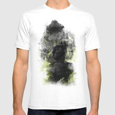 Polar Opposite MEDIUM White Mens Fitted Tee