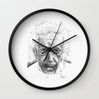 einstein Wall Clocks featuring Einstein by Les Joanneries & Jacques Lajeunesse