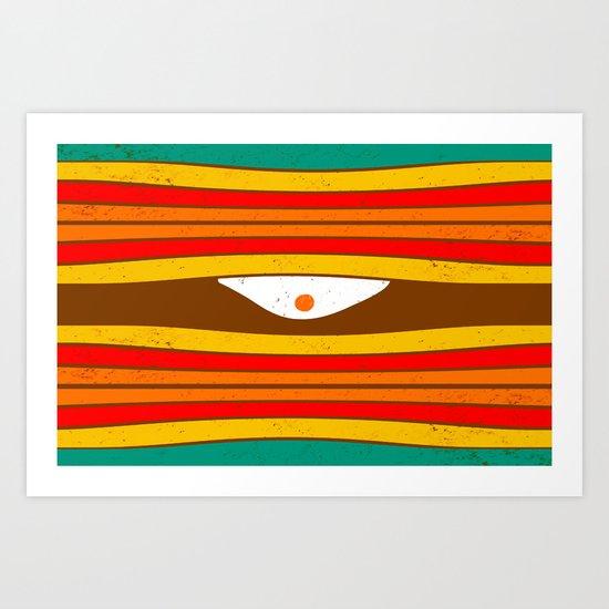 Eye Wave Art Print
