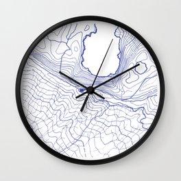 Secret places II - handmade blue map Wall Clock