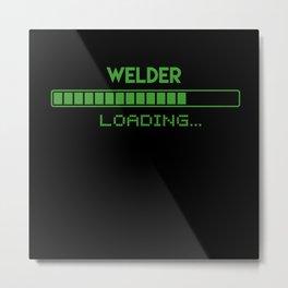 Welder Loading Metal Print