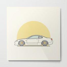Nissan 200SX S15 Vector illustration Metal Print