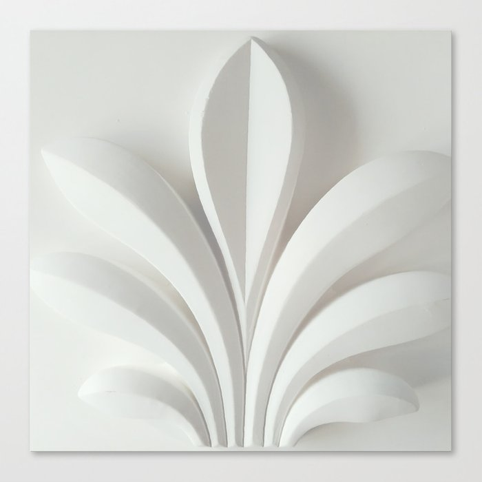 White sculpture Canvas Print