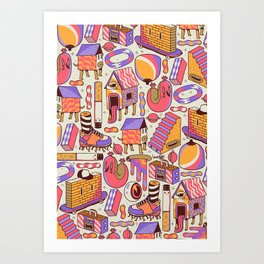 chaotic life Art Print
